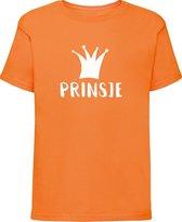 Oranje shirt Koningsdag | Prinsje | Maat 110-116