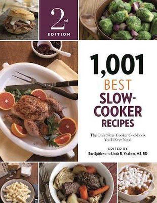 Boek cover 1,001 Best Slow-Cooker Recipes van Sue Spitler (Paperback)