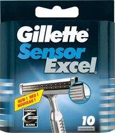Gillette Sensor Excel - 10 stuks - Scheermesjes