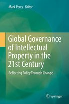 Omslag Global Governance of Intellectual Property in the 21st Century