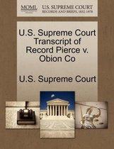 U.S. Supreme Court Transcript of Record Pierce V. Obion Co
