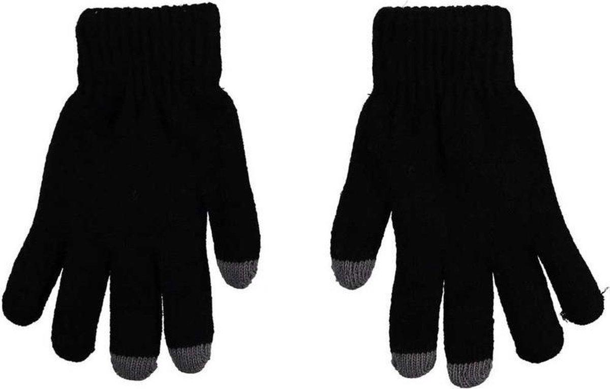 Thermo handschoenen voor dames zwart met touch tip - Wintersport kleding - Thermokleding - Smartphone compatible - Touch handschoen - Touchscreen vinger