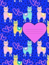 Heart Llama Pattern Composition Notebook