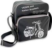 Schoudertas Italian Scooters Vespa zwart