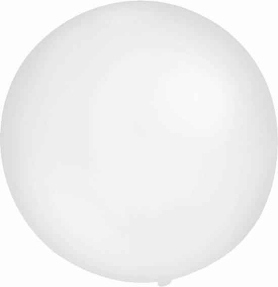 2x Grote ballonnen van 60 cm wit