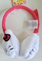 Oorwarmers van Hello Kitty, wit-roze