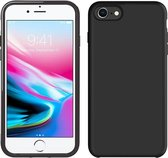 Apple iPhone 7 Hoesje Zwart en Apple iPhone 8 Hoesje Zwart en Apple iPhone SE 2020 Hoesje Zwart Siliconen Case Hoes Cover