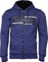 Gorilla Wear Bowie Mesh Zipped Hoodie - Marineblauw - 2XL