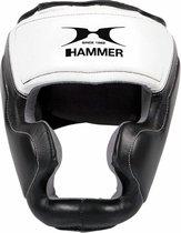 Hammer Boxing HOOFDBESCHERMER Sparring - leer - Zwart/Wit - Maat L/XL