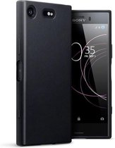 Zwart tpu siliconen backcover hoesje Sony Xperia XZ1 Compact