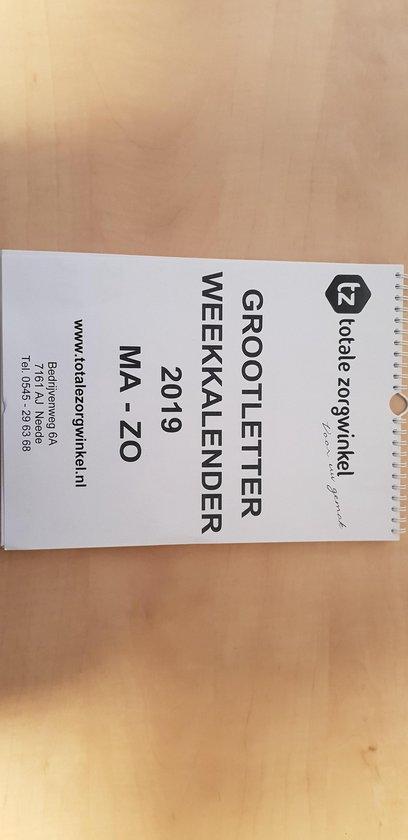 Grootletter Weekkalender 2019 - Extra dik papier - Hobbit