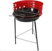 Houtskool Barbecue - Rond 33cm - Rood - BBQ