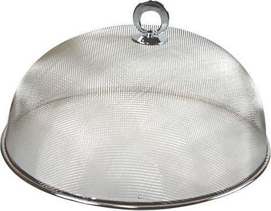 Voedselkap metaal 30 cm - Eten/voedsel beschermen tegen ongedierte - Afdekkappen/vliegenkappen