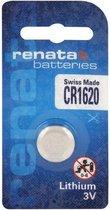 1 Stuk Renata CR1620 3v lithium knoopcelbatterij