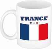 Beker / mok met de Franse vlag - 300 ml keramiek - Frankrijk