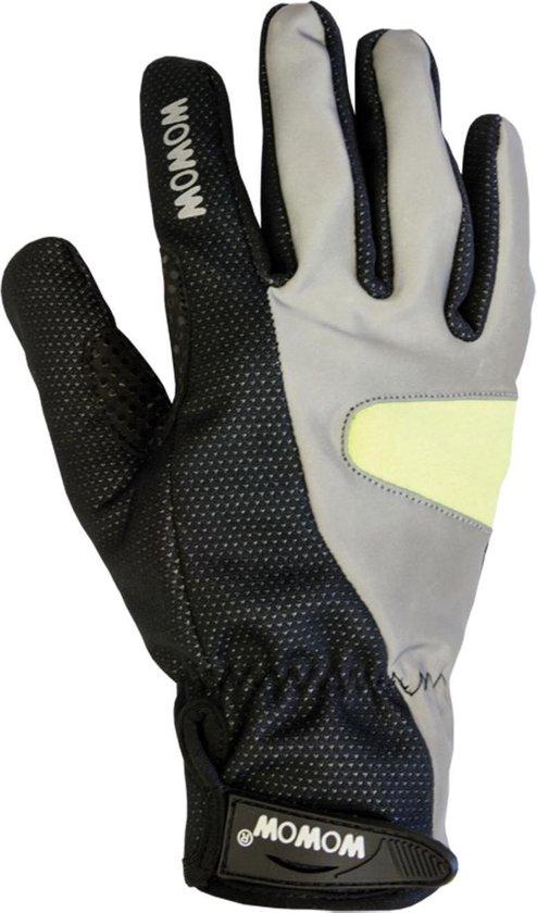 Wowow Cycle Gloves 2.0 Large Fietshandschoenen - Unisex - zwart/zilver/geel