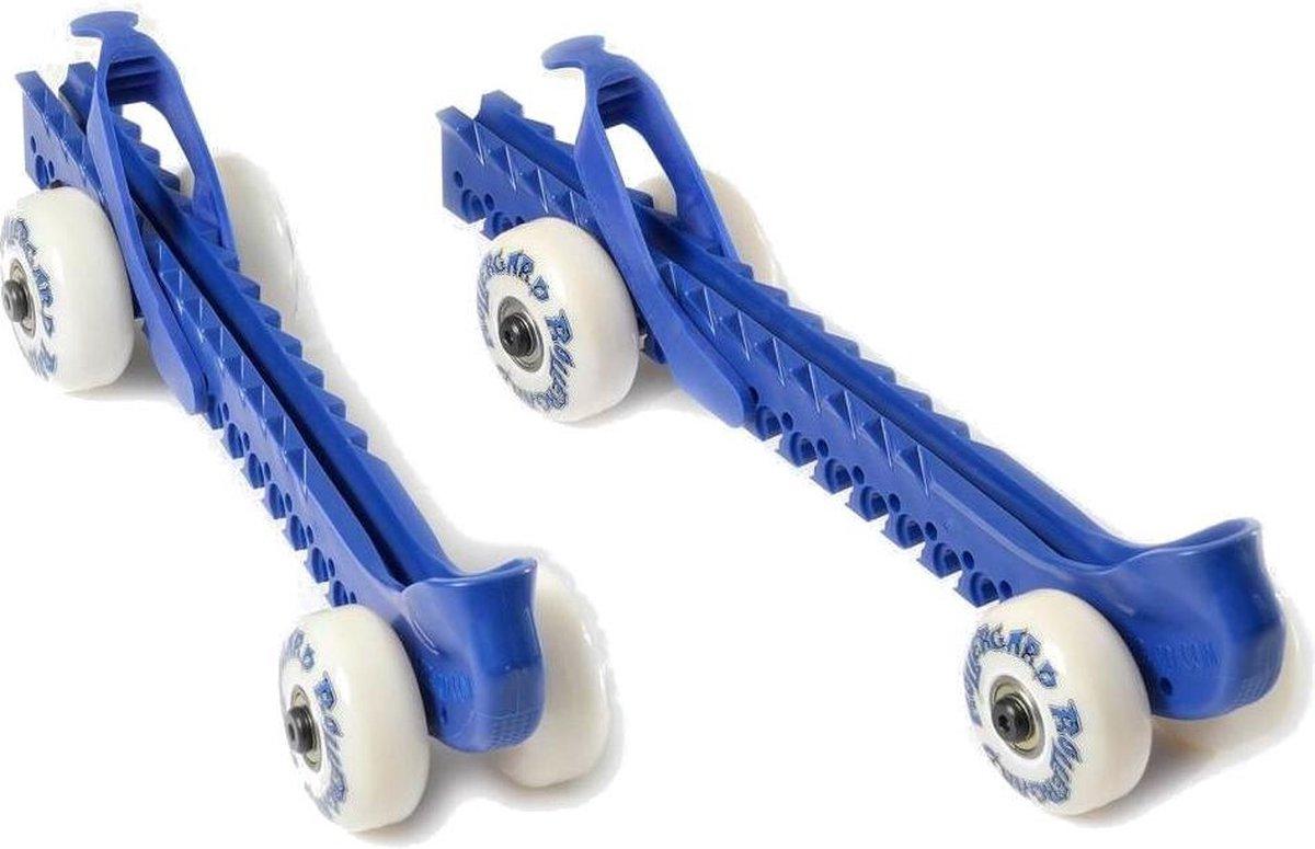 Rollergard Schaatsbeschermers Met Wielen 2 Stuks Blauw