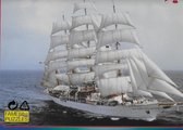 Ouderwetse Puzzel 1000 Stukjes - Groot Zeilschip - Wit
