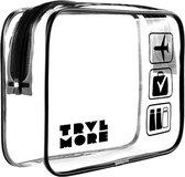 TravelMore Transparante Toilettas - 2.1 Liter Travel Bag en Organizer - Zwart