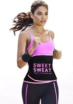 Sweet Sweat Waist Trimmer - Waist Trainer - Afslankband - Waist Shaper - Sauna Belt Roze