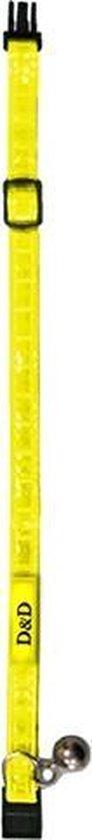 D&D Kattenhalsband - Geel Reflecterend
