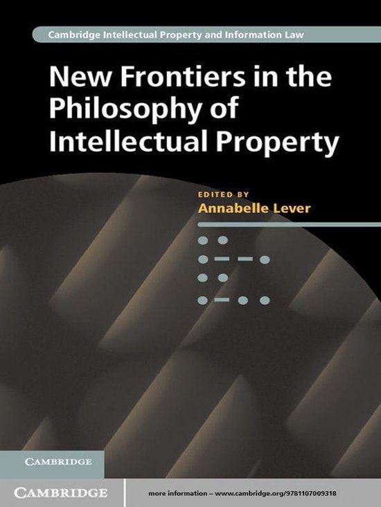 Omslag van New Frontiers in the Philosophy of Intellectual Property