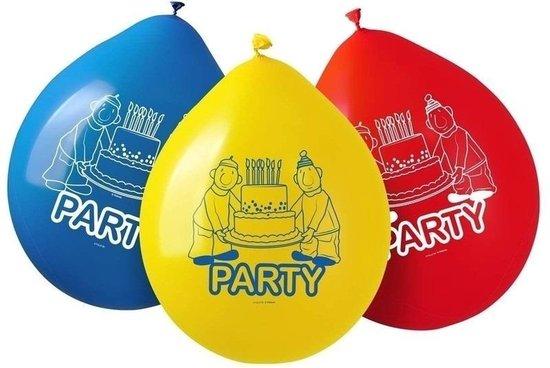 16x Buurman & Buurman kinderverjaardag thema ballonnen feestartikelen