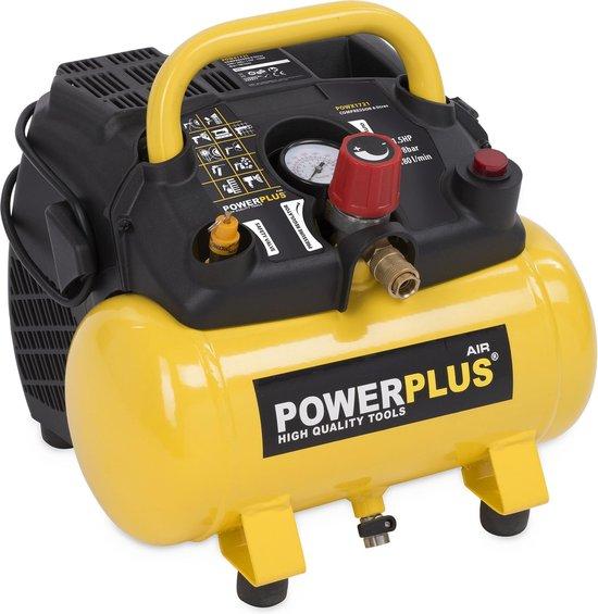 Powerplus POWX1721 Compressor - 8 bar - 6 liter tankinhoud