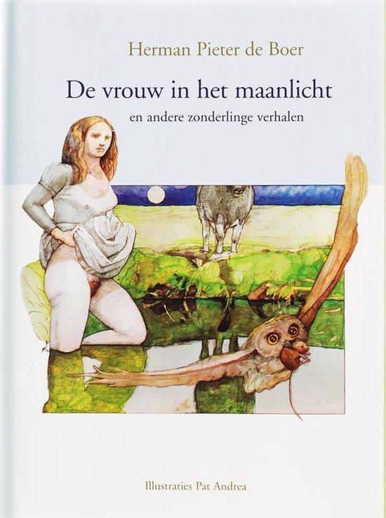 Boek cover De vrouw in het maanlicht en andere zonderlinge verhalen van Herman Pieter de Boer (Hardcover)