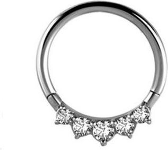 Click Ring - Swarovski Elements - Piercings works