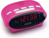 Ices ICR-210 Pink - Wekkerradio - Radio - Sleeptimer - FM-tuner