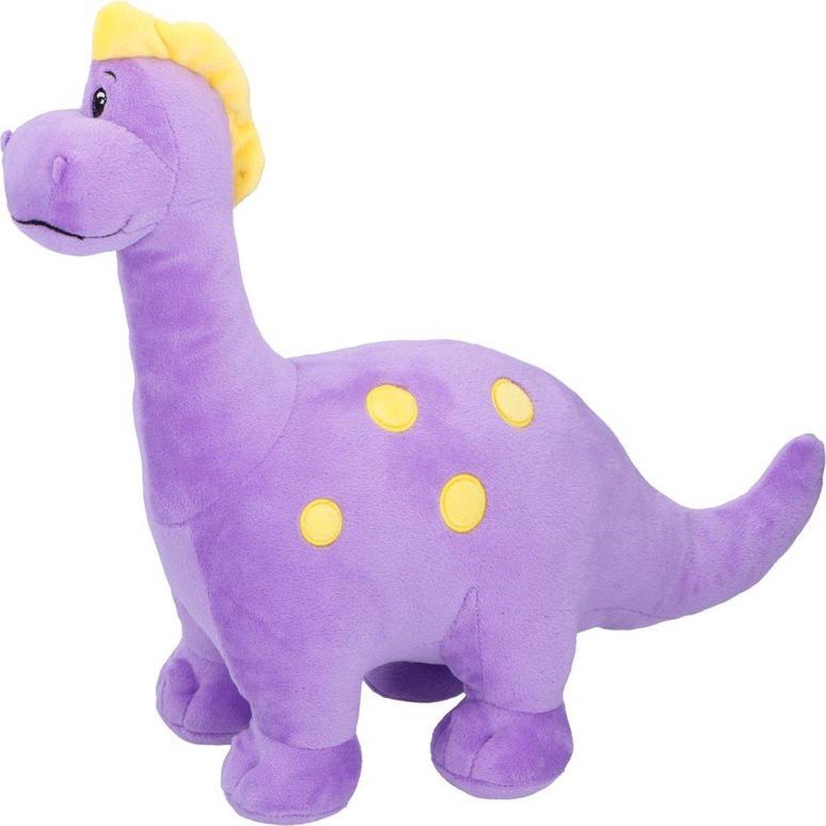 Bol Com Paarse Dinosaurus Knuffel Brontosaurus 37 Cm