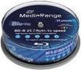 Bluray MediaRange 25GB 25pcs BD-R Spindel Inkjet Print. 4x