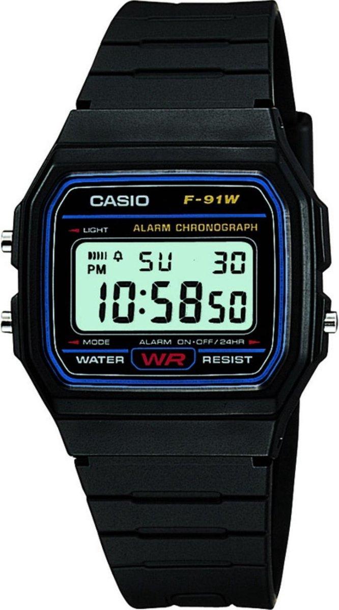 Casio Collection Men F-91W-1Yef - Heren - Horloge -  30 mm - Casio