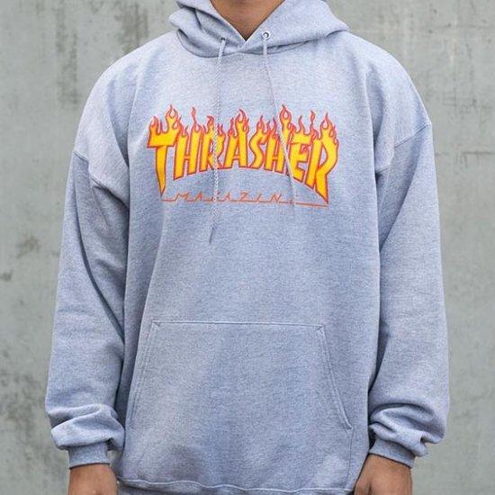 Thrasher - Flame Hoodie Grey