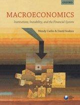 Boek cover Macroeconomics van Wendy Carlin (Paperback)