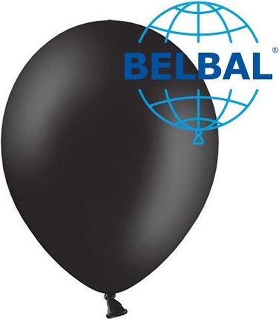 Ballonnen zwart B95 30 cm 100 stuks