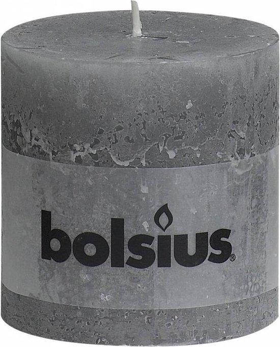 Bolsius Stompkaars Stompkaars 100/100 rustiek Lichtgrijs