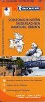 Michelin Regionalkarte Schleswig-Holstein / Niedersachsen / Hamburg / Bremen 1 : 350 000