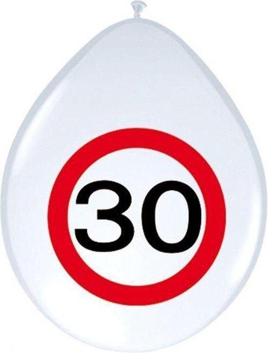 Benza - Ballon Verkeersbord - Leeftijd, verjaardag 30 Jaar