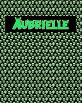 120 Page Handwriting Practice Book with Green Alien Cover Aubrielle
