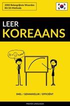 Leer Koreaans: Snel / Gemakkelijk / Efficiënt: 2000 Belangrijkste Woorden