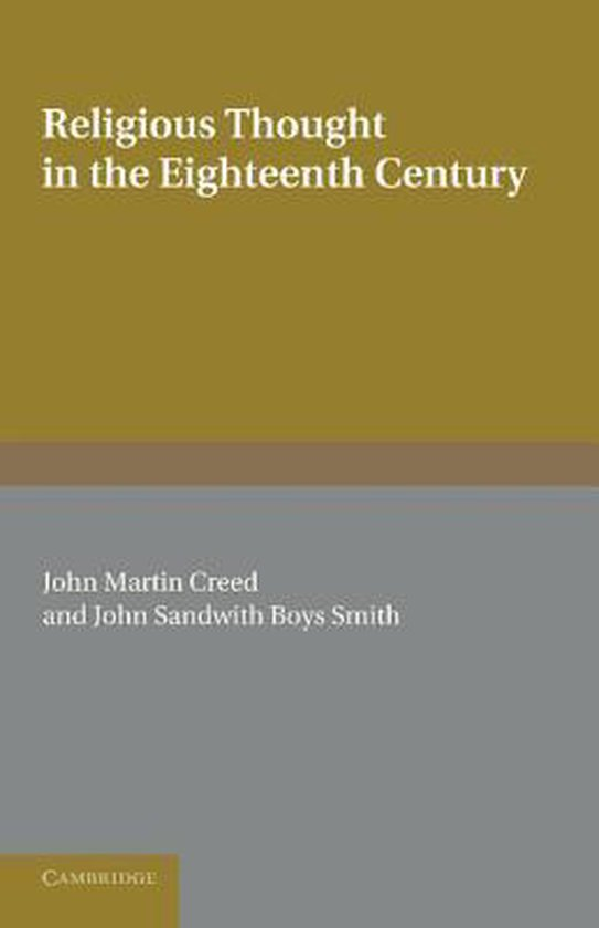 Boek cover Religious Thought in the Eighteenth Century van  (Paperback)