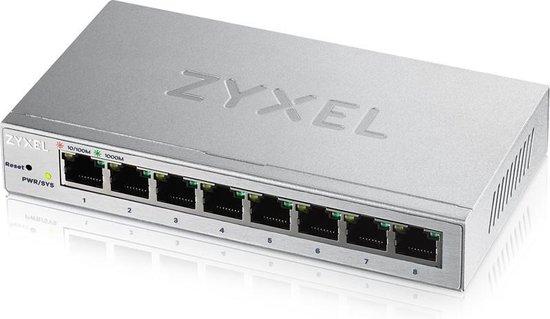 Zyxel GS1200-8 Managed Gigabit Ethernet (10/100/1000) Zilver