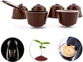5x Hervulbare Koffie Cups Voor Dolce Gusto - Koffiecups Capsule Pads- Koffiecapsules - Hervulbaar