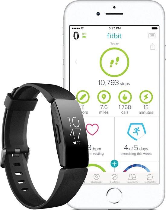 Fitbit Inspire HR - Activity tracker - Zwart