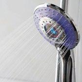 Douchekop Diamond 13cm ABS Chroom Rond Waterbesparend Verstelbaar 3 Straalsoorten LED Verlichting met Temperatuursensor