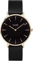 CLUSE CL18117 LA Bohème - Horloge - Mesh Gold Black Black - Ø 38 mm