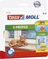 Tesa Moll tochtstrip 05463 E profiel - 9mmx6m wit