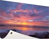 Avondlicht boven de zee Tuinposter 200x100 cm - Tuindoek / Buitencanvas / Schilderijen voor buiten (tuin decoratie) XXL / Groot formaat! / Zee en Strand